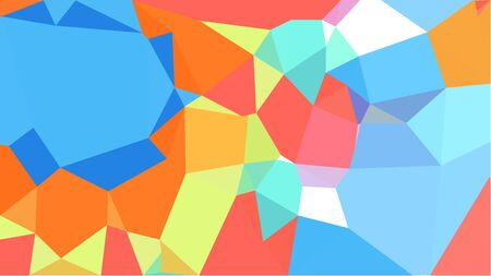 triangles background with light sky blue, coral and dark salmon colors. can be used for wallpaper, poster, cards or graphic elements. Stock Photo - 130150118