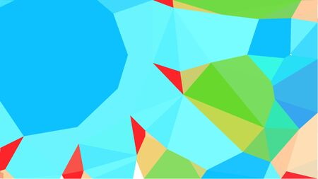 colorful triangles background with turquoise, moderate green and sandy brown colors. can be used for wallpaper, poster, cards or graphic elements. Stock Photo - 130150126
