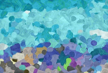 abstract colorful grunge painting style with medium aqua marine, sky blue and light sea green colors.