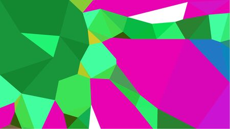 multicolor triangles with medium sea green, forest green and deep pink color. abstract geometric background graphic. can be used for wallpaper, poster, cards or graphic elements. Stock Photo