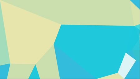 geometric multicolor triangles with dark turquoise, pale golden rod and light cyan color. abstract background graphic. can be used for wallpaper, poster, cards or graphic elements. Stock Photo