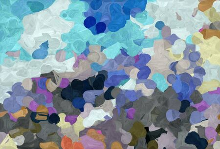 abstract colorful grunge painting style with light slate gray, light gray and very dark blue colors. Stock Photo