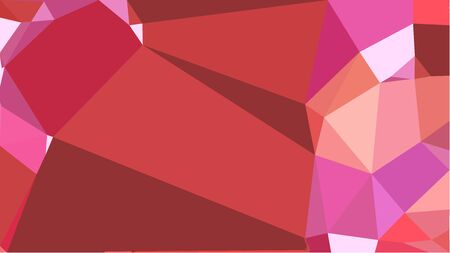 abstract geometric background with moderate red, pastel pink and pale violet red color triangles. can be used for wallpaper, poster, cards or graphic elements.