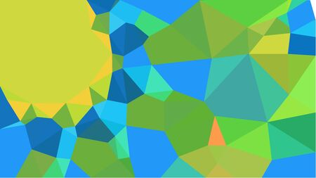 multicolor triangles with light sea green, golden rod and moderate green color. abstract geometric background graphic. can be used for wallpaper, poster, cards or graphic elements. 스톡 콘텐츠