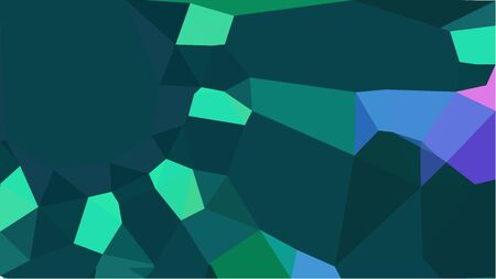 colorful triangles background with dark slate gray, very dark blue and light sea green colors. can be used for wallpaper, poster, cards or graphic elements.