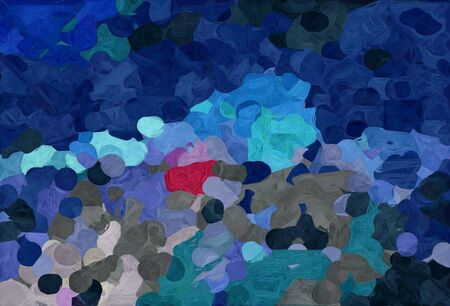 abstract colorful grunge painting style with dark slate gray, midnight blue and steel blue colors. Stock fotó