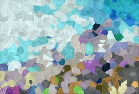 abstract colorful grunge painting style with pastel blue, teal blue and cadet blue colors. Stock fotó