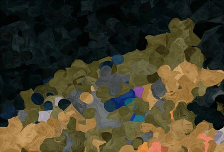 abstract creative painting style with very dark green, peru and pastel brown colors.