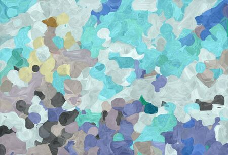 abstract natural painting style with pastel blue, dim gray and teal blue colors.