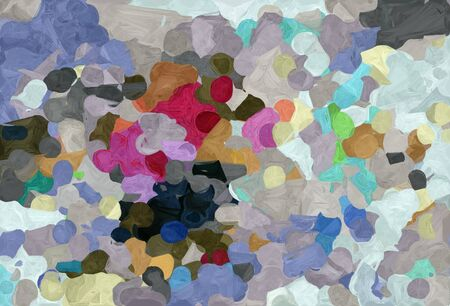 abstract decoration painting style with dark gray, dark slate gray and pastel brown colors.