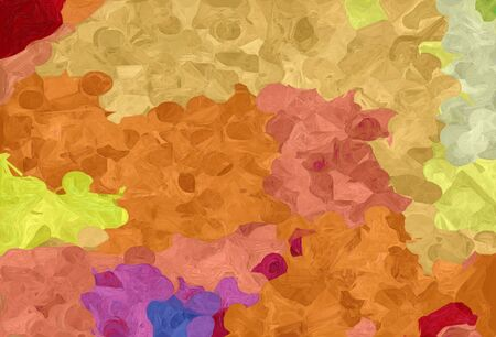 abstract creative painting style with peru, dark khaki and firebrick colors. Standard-Bild - 130150190