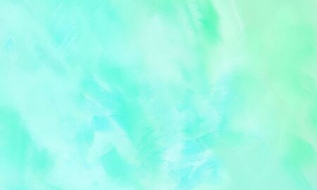 modern smeared grungy brushed wallpaper graphic with pale turquoise, aqua marine and turquoise painted color.