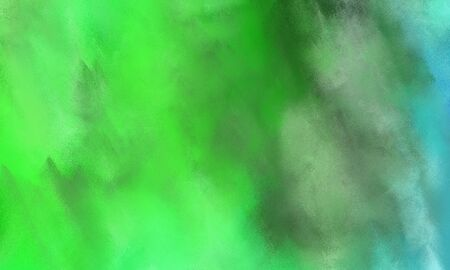 abstract colorful grungy brushed wallpaper graphic with moderate green, lime green and medium aqua marine painted color. Stok Fotoğraf