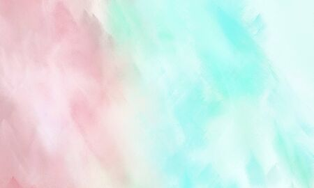 abstract brushed background with lavender, baby pink and pale turquoise color and space for text or image Stock Photo