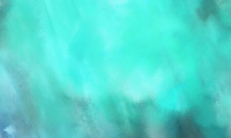 Fondo cepillado abstracto con color turquesa medio, turquesa y azul turquesa y espacio para texto Foto de archivo