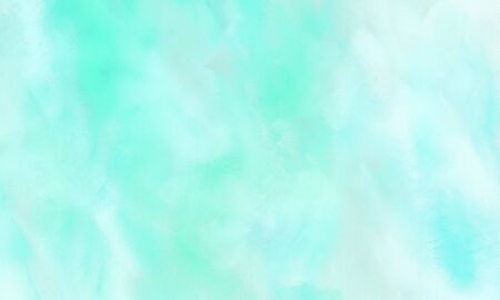 abstract colorful grungy brushed wallpaper graphic with pale turquoise, light cyan and aqua marine painted color.