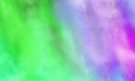 abstract colorful grungy brushed wallpaper graphic with medium aqua marine, pastel green and plum painted color.