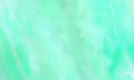 beautiful grungy brushed illustration graphic with colorful aqua marine, turquoise and pale turquoise painted color. Stock fotó