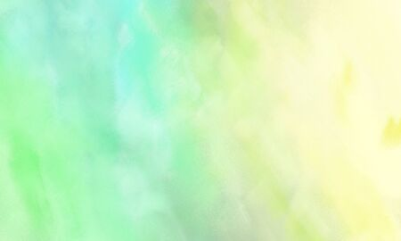 fine brush painted background with tea green, lemon chiffon and pale turquoise color and space for text or image Фото со стока