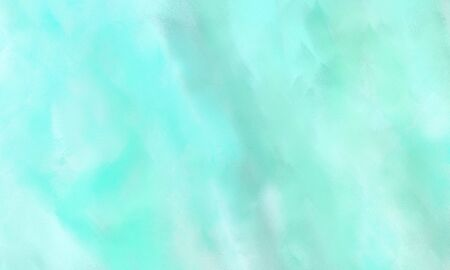 abstract watercolor painted background with pale turquoise, aqua marine and light cyan color and space for text or image