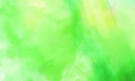 abstract brushed background with light green, tea green and lime green color and space for text or image