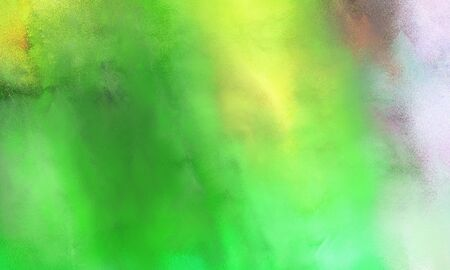 abstract watercolor painted background with moderate green, pale golden rod and pastel blue color and space for text or image Stok Fotoğraf