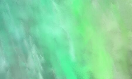 abstract watercolor painted background with light green, medium aqua marine and pale green color and space for text or image