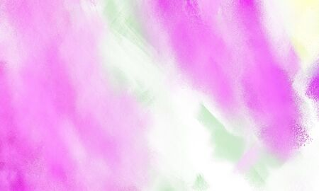 colorful smeared grungy brushed wallpaper graphic with pastel pink, plum and violet painted color. Stock Photo