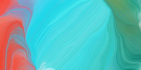 futuristic wavy motion speed lines background or backdrop with medium turquoise, indian red and blue chill colors. good as graphic element.