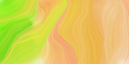 curved speed lines background or backdrop with sandy brown, pastel orange and yellow green colors. good as graphic element.
