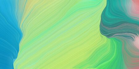 wave lines from top left to bottom right. background illustration with light green, light sea green and gray gray colors.