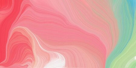 curved lines background or backdrop with dark salmon, medium aqua marine and pastel red colors. fantasy abstract art.