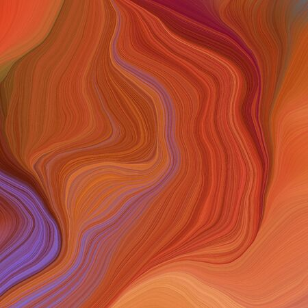 quadratic graphic illustration with sienna, moderate violet and bronze colors. abstract fractal swirl motion waves. can be used as wallpaper, background graphic or texture. Zdjęcie Seryjne - 133417606