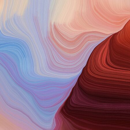 quadratic graphic illustration with pastel purple, dark red and corn flower blue colors. abstract fractal swirl waves. can be used as wallpaper, background graphic or texture. Zdjęcie Seryjne - 133417774