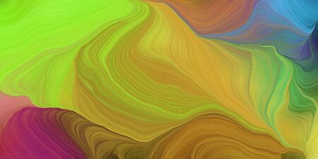 abstract colorful waves motion. can be used as wallpaper, background graphic or texture. graphic illustration with peru, dark moderate pink and yellow green colors. Zdjęcie Seryjne - 133417805