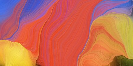 abstract colorful waves motion. can be used as wallpaper, background graphic or texture. graphic illustration with indian red, pastel orange and slate blue colors.