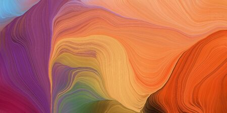 abstract colorful swirl motion. can be used as wallpaper, background graphic or texture. graphic illustration with peru, old mauve and dark moderate pink colors. Zdjęcie Seryjne - 133417921
