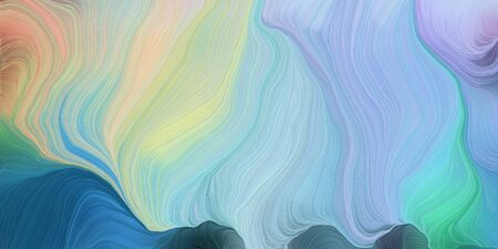 abstract colorful swirl motion. can be used as wallpaper, background graphic or texture. graphic illustration with pastel blue, teal blue and pastel gray colors. 写真素材