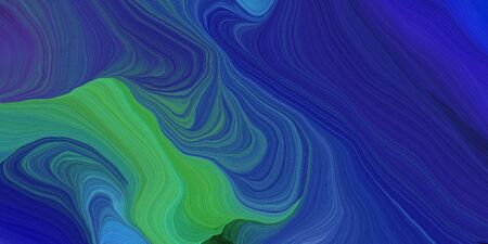 abstract fractal swirl waves. can be used as wallpaper, background graphic or texture. graphic illustration with midnight blue, medium sea green and teal blue colors.