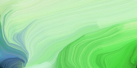 abstract design swirl waves. can be used as wallpaper, background graphic or texture. graphic illustration with tea green, medium sea green and moderate green colors.