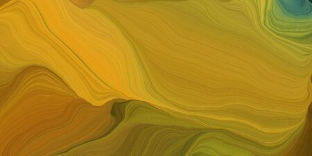 abstract design swirl waves. can be used as wallpaper, background graphic or texture. graphic illustration with dark golden rod, golden rod and dark olive green colors.