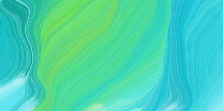 curved speed lines background or backdrop with medium turquoise, pastel green and medium aqua marine colors. good for design texture.