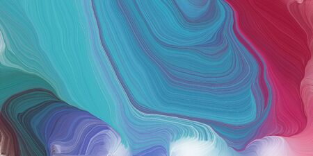 curved lines background or backdrop with steel blue, pale violet red and dark moderate pink colors. digital abstract art.