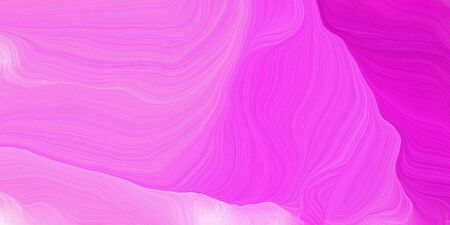 curved speed lines background or backdrop with violet, magenta and neon fuchsia colors. dreamy digital abstract art. Zdjęcie Seryjne