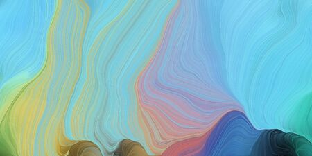 abstract colorful waves motion. can be used as wallpaper, background graphic or texture. graphic illustration with sky blue, tan and dark slate gray colors. 写真素材
