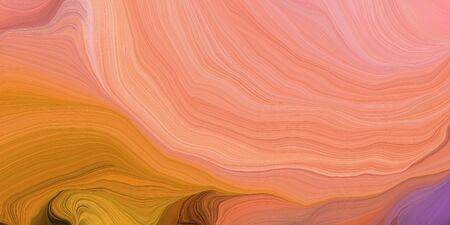 abstract design swirl waves. can be used as wallpaper, background graphic or texture. graphic illustration with dark salmon, coffee and pastel magenta colors. Zdjęcie Seryjne - 133418136
