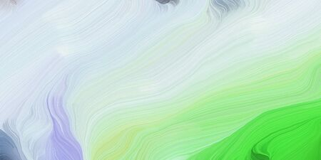 abstract design swirl waves. can be used as wallpaper, background graphic or texture. graphic illustration with light gray, lime green and light green colors. 写真素材