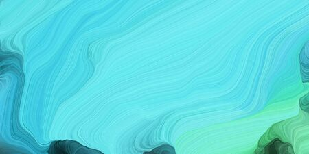 abstract colorful waves motion. can be used as wallpaper, background graphic or texture. graphic illustration with medium turquoise, turquoise and dark slate gray colors.