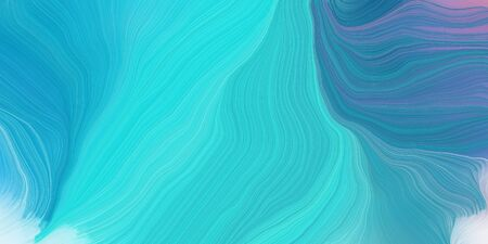 curved speed lines background or backdrop with medium turquoise, turquoise and steel blue colors. good as graphic element.