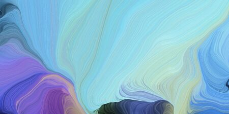 abstract design swirl waves. can be used as wallpaper, background graphic or texture. graphic illustration with sky blue, dark slate blue and slate blue colors.